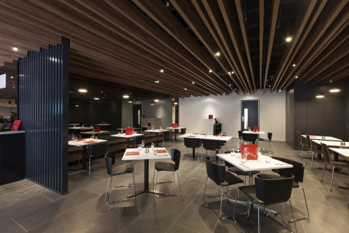 Supaslat-Maxi-Beams-In-Supalami-Striped-Mahogany-For-Hotel-Restaurant