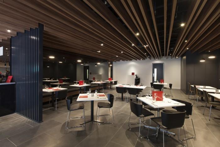 Supaslat-Maxi-Beams-In-Supalami-Striped-Mahogany-For-Hotel-Restaurant